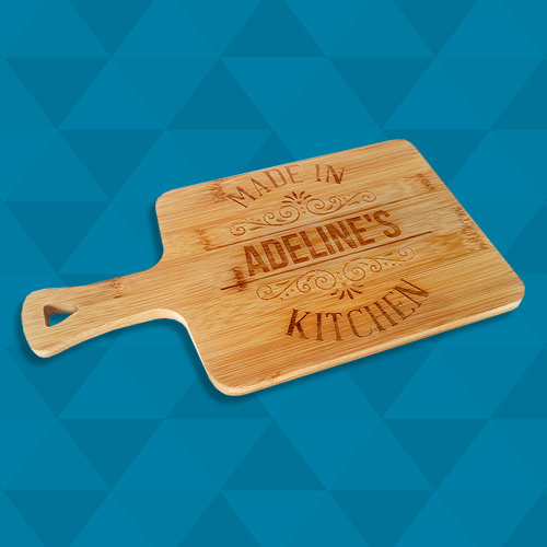 Engraved Bamboo Serving Board