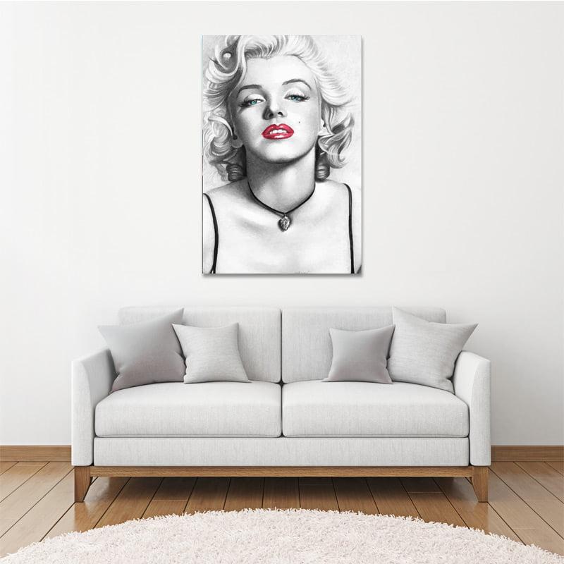 Marilyn monroe canvas art depot for Marilyn monroe tattoo canvas