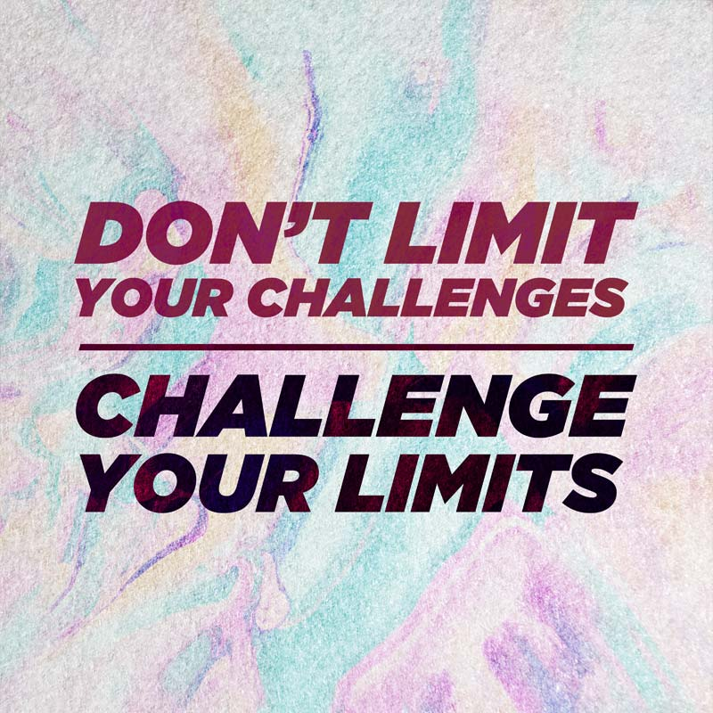 Challenge Your Limits Inspirational Canvas Quotes