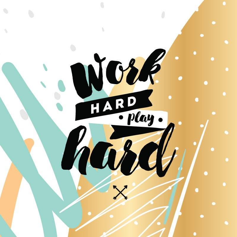 Work Hard Play Inspirational Canvas Quotes