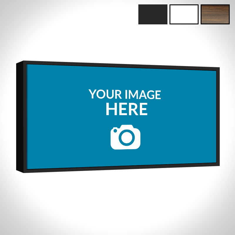 Framed Panoramic Canvas Upload Photo To Order Canvas